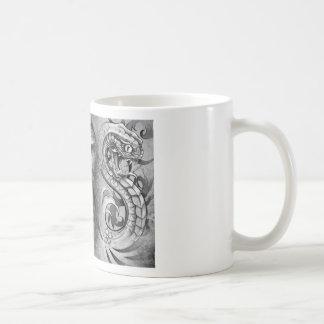 Buddha and snakes. Tattoo design to over congregat Coffee Mug