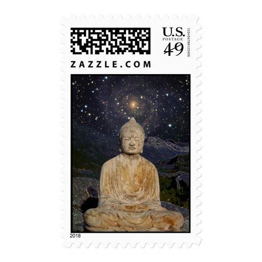 Buddha and Stars Stamp