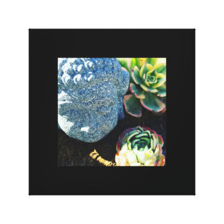 Buddha and Succulents Canvas Print