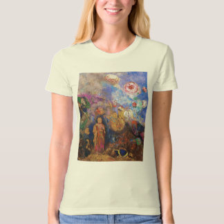 Buddha and the Flower by Odilon Redon T-Shirt