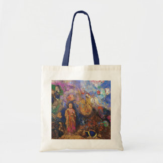 Buddha and the Flower by Odilon Redon Tote Bag
