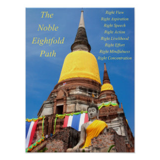 Buddha and the Noble Eightfold Path Poster