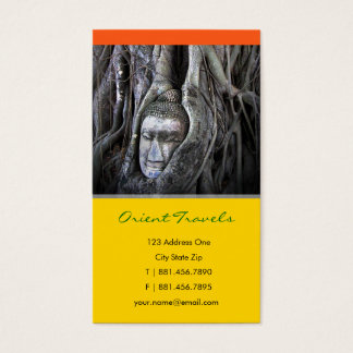 Buddha And The Tree Buddhism Thailand Photography Business Card