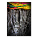 Buddha And The Tree Buddhism Thailand Photography Stationery Note Card