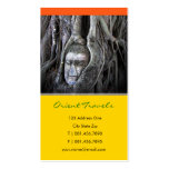 Buddha And The Tree Buddhism Thailand Photography Double-Sided Standard Business Cards (Pack Of 100)