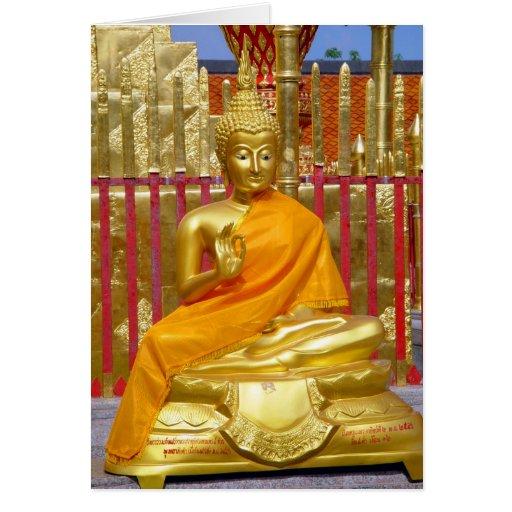 Buddha at Wat Doi Suthep Blank Card