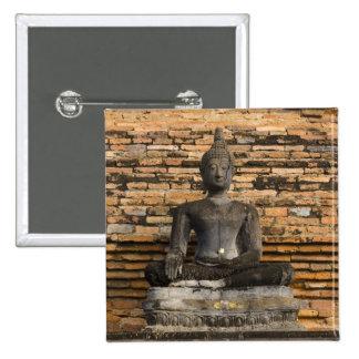Buddha at Wat Mahathat. Pinback Button