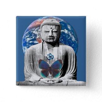 Buddha Awaits Button button