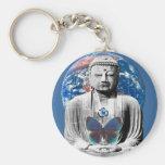 Buddha Awaits Keychain