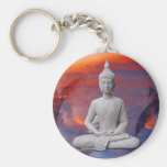 Buddha Basic Round Button Keychain