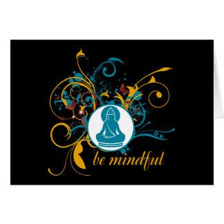 Buddha Be Mindful Card