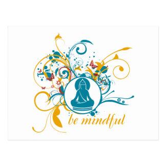 Buddha Be Mindful Postcard