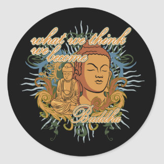 Buddha Become Quote Classic Round Sticker
