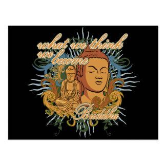 Buddha Become Quote Postcard