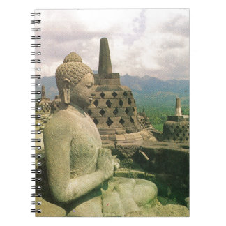 Buddha bell statue, Borobodur temple, Java Notebook
