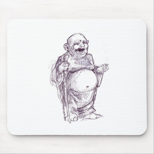 buddha_belly mouse pads
