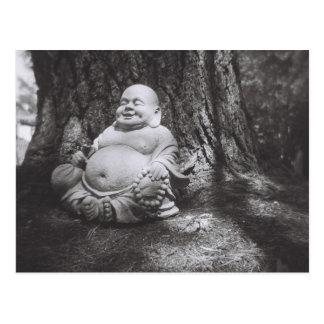 Buddha Black and White Photography Postcard