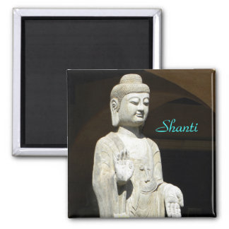 Buddha blessing 2 inch square magnet