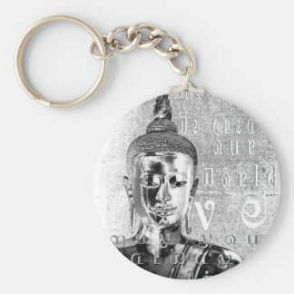 Buddha Blessing Basic Round Button Keychain