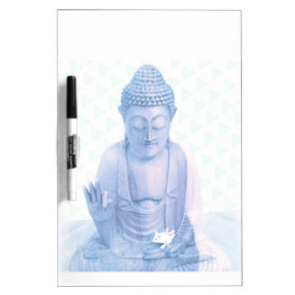 buddha blue and tiny white mouse Dry-Erase board