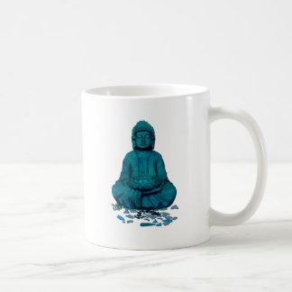 Buddha blue coffee mug