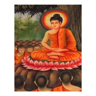 BUDDHA   Buddhism  Peace Letterhead Design