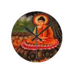 BUDDHA   Buddhism  Peace Round Clock