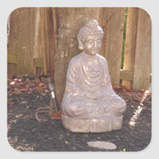 Buddha Buddhism Religion Spiritual Idol Statue fun Square Sticker