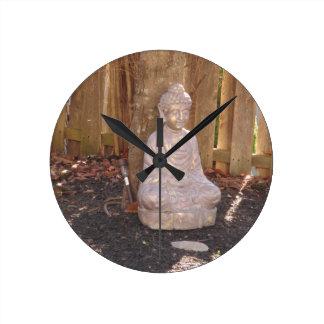 BUDDHA Buddhism Statue Religion Spiritual Gifts 99 Round Clock