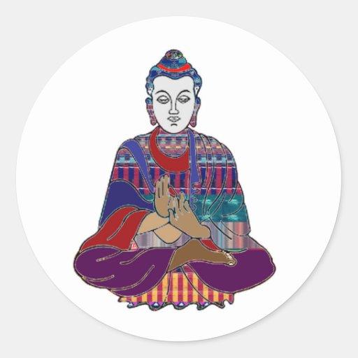 BUDDHA Buddhism Teacher Master NVN659 spiritual Classic Round Sticker