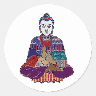 BUDDHA Buddhism Teacher Master spiritual healing Classic Round Sticker
