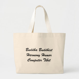 Buddha Buddhist Harmony Humor Computer Tibet Canvas Bags