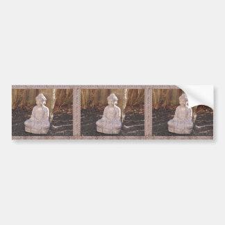 Buddha Buddhist Spiritual Statue Idol Peace Happy Bumper Sticker