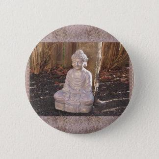 Buddha Buddhist Spiritual Statue Idol Peace Happy Pinback Button