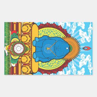 BUDDHA BUN RECTANGLE STICKER