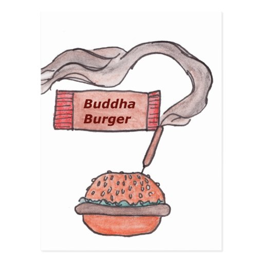 Buddha Burger Postcard