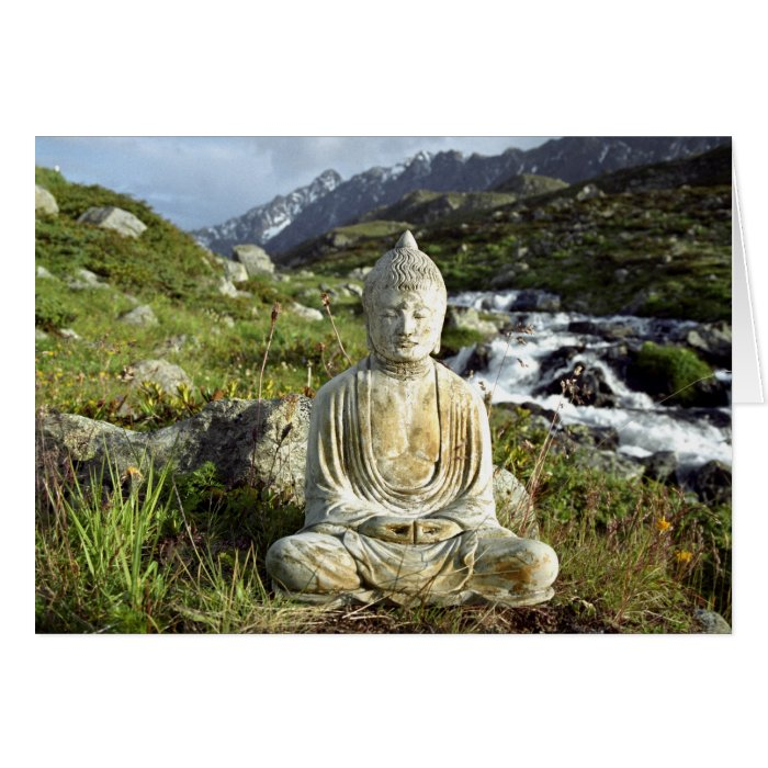 Buddha by a Stream Card