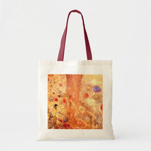 Buddha by Symbolist Painter Odilon Redon Canvas Bags