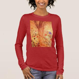 Buddha by Symbolist Painter Odilon Redon Long Sleeve T-Shirt