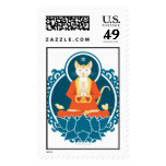 Buddha Cat Postage Stamp