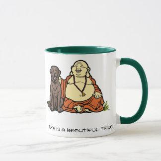 Buddha Chocolate Lab Mug