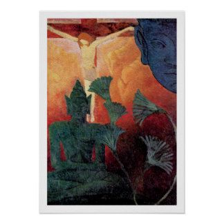 Buddha & Christ Vintage Art by Paul Ranson Poster