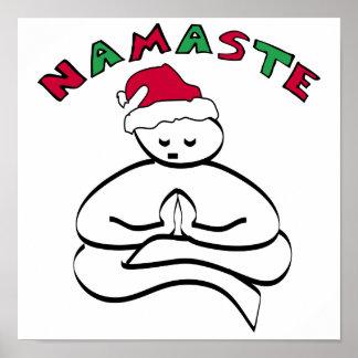 Buddha Christmas Posters