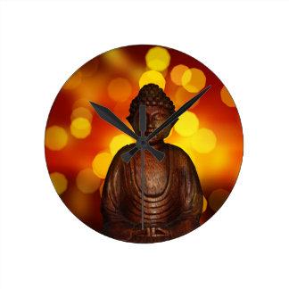 Buddha Round Clock
