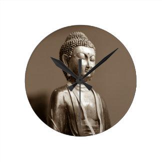 Buddha Round Wall Clocks