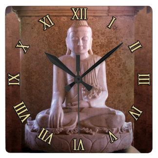 Buddha Square Wall Clocks