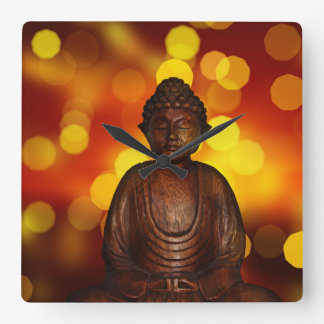 Buddha Square Wallclock