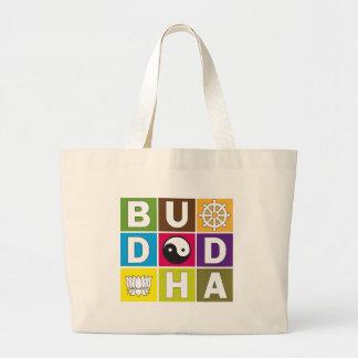 Buddha Colored Blocks Canvas Bags