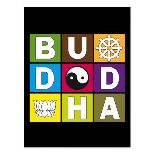 Buddha Colored Blocks Postcard