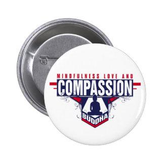 Buddha Compassion Button